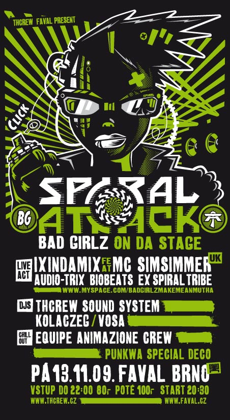 Spiral attack bad girls on da stage 13. 11. 2009